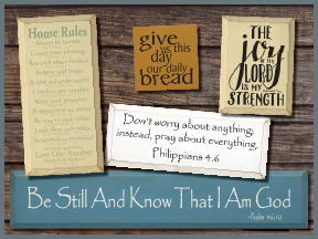 Bible Verse Wooden Signs
