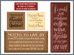 Wooden Signs With Choclate Sayings And Quotes