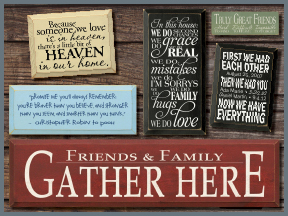 Friends And Familiy Wooden Signs With Sayings