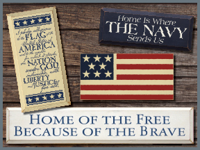Patriotic Wood Signs With Sayings and Quotes