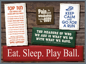 Sports Related Wooden Signs With Sayings And Quotes