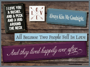 Wood Valentine's Day Signs With Sayings